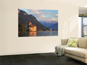 Switzerland, Vaud, Montreaux, Chateau De Chillon and Lake Geneva (Lac Leman) by Michele Falzone