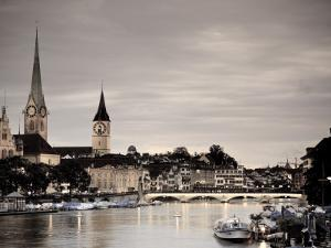 Switzerland, Zurich, Old Town and Limmat River by Michele Falzone