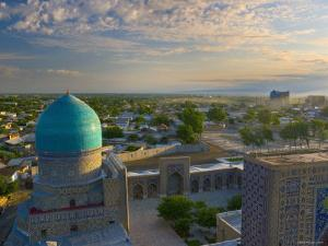 The Blue Domes of the Registan, Samarkand, Uzbekistan by Michele Falzone