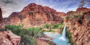 USA, Arizona, Gran Canyon, Havasu Canyon (Hualapai Reservation), Havasu Falls by Michele Falzone