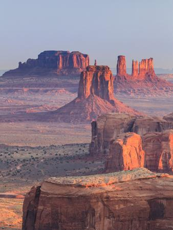 USA, Arizona, View Over Monument Valley from the Top of Hunt's Mesa