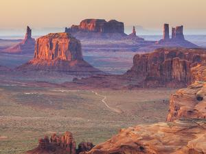 USA, Arizona, View Over Monument Valley from the Top of Hunt's Mesa by Michele Falzone