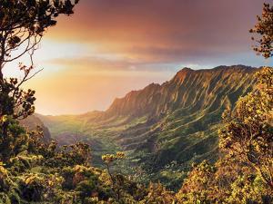 USA, Hawaii, Kauai, Kokee State Park, Kalalau Valley by Michele Falzone
