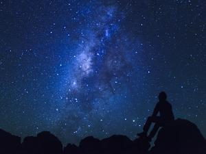 USA, Hawaii, the Big Island, Milky Way from Mauna Kea Observatory (4200m) by Michele Falzone