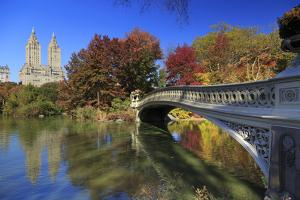 Usa, New York City, Manhattan, Central Park, Bow Bridge by Michele Falzone