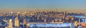Usa, New York City, Manhattan Skyline from Brooklyn by Michele Falzone