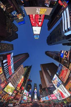 Usa, New York City, Midtown Manhattan, Times Square by Michele Falzone