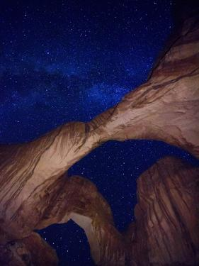 USA, Utah, Moab, Arches National Park, Double Arch and Milky Way by Michele Falzone
