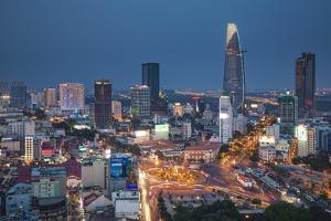 Vietnam, Ho Chi Minh City (Saigon), Dong Khoi, City Skyline by Michele Falzone
