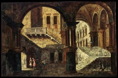 Courtyard with a Staircase, 1730s