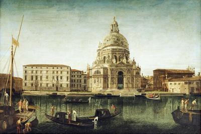 Santa Maria Della Salute, Venice, with Gondolas on the Grand Canal