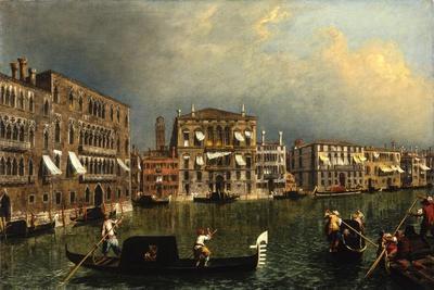 The Grand Canal at the [Rio di] Ca' Foscari, c.1740-1743