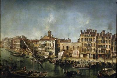 View of the Canal Grande from the Fondamenta Del Vin, 1736-1737
