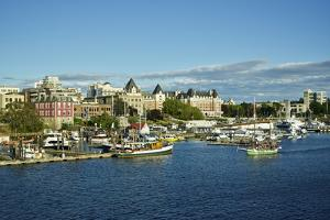 Canada, British Columbia. City of Victoria seen from the harbor by Michele Molinari