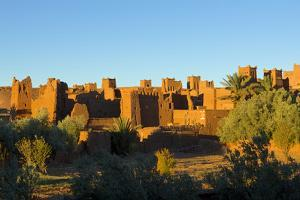 Morocco, Kasbah Ait Ben Addou. Kasbah Surrounded by an Oasis by Michele Molinari
