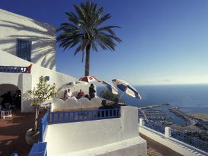 Restaurant Terrace on the Mediterranean Sea, Tunisia by Michele Molinari