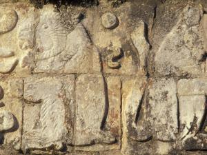 Stone Decorations, Chichen Itza Ruins, Maya Civilization, Yucatan, Mexico by Michele Molinari