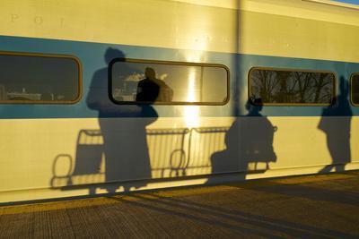 USA, New York, Beacon, at the Mta Train Station