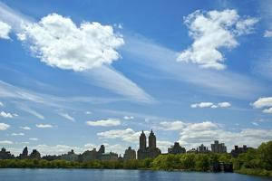 USA, NY, New York City. Central Park Reservoir and cityscape on the South and West side of the Park by Michele Molinari