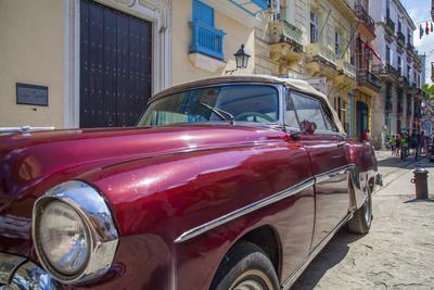 1950's car in artistic Havana, Cuba.
