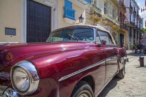 1950's car in artistic Havana, Cuba. by Michele Niles