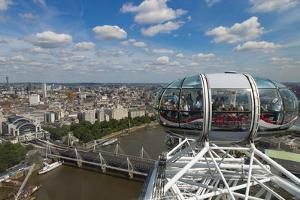 Aerial of London from London Eye, England. by Michele Niles