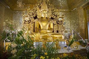 Kuthodaw Pagoda in Mandalay, Myanmar. by Michele Niles