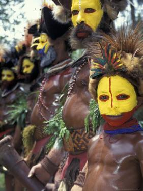 Coastal Tribe Natives, Oro, Papua New Guinea by Michele Westmorland