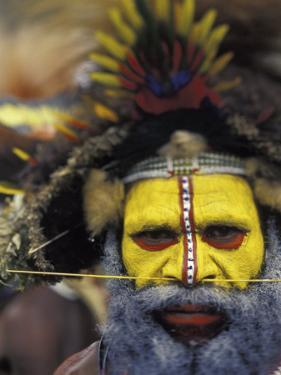 Huli Wigman, Tari, Papua New Guinea, Oceania by Michele Westmorland