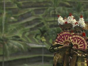 Legong Dancers, Bali, Indonesia by Michele Westmorland
