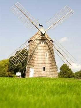 Veteran's Memorial and Wind Mill, East Hampton, New York, USA by Michele Westmorland