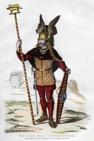 Gaul Chief in Battle Dress Carrying a Standard, 1882-1884