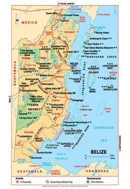 Michelin Official Belize Map Art Print Poster