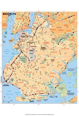 Michelin Official Brooklyn Map Art Print Poster