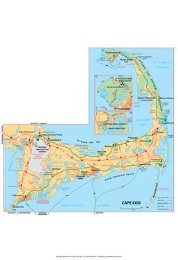 Michelin Official Cape Cod Map Art Print Poster