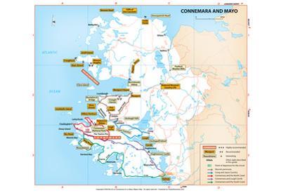 Michelin Official Connemara and Mayo Ireland Region Map Art Print Poster