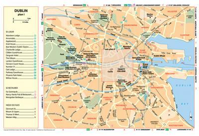 Michelin Official Dublin French Map Art Print Poster