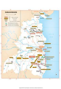 Michelin Official Dublin Region Map Art Print Poster