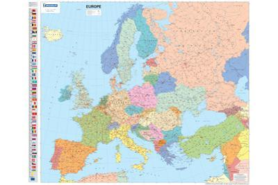 Michelin Official Europe Political Map with Flags Poster