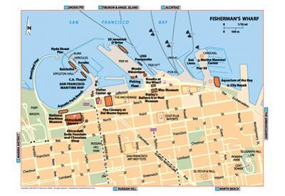 Michelin Official Fisherman's Wharf Map Art Print Poster