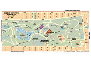 Michelin Official Golden Gate Park Map Art Print Poster
