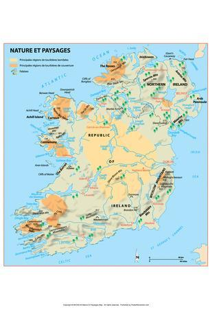 photograph about Printable Maps of Ireland named Very affordable Maps of Eire Posters for sale at