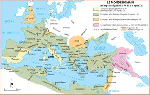 Michelin Official Le Monde Romain French Map Art Print Poster