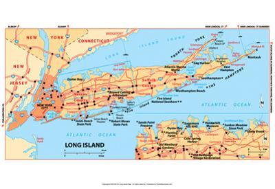 Michelin Official Long Island Map Art Print Poster