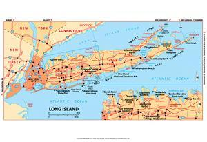 Michelin Official Long Island Map Art Print Poster
