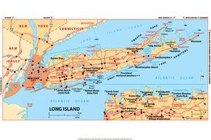 Michelin Official Long Island Map Poster