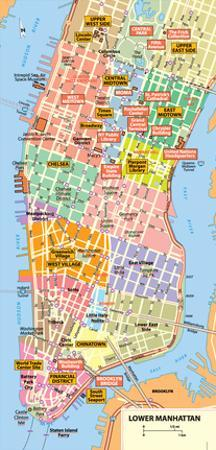 Michelin Official Lower Manhattan NYC Map Art Print Poster
