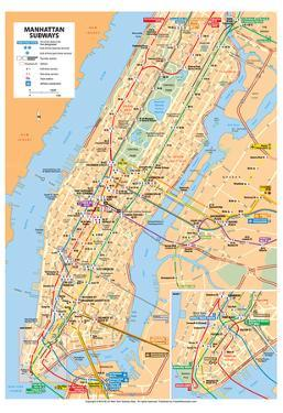 Michelin Official Manhattan Subways Map Art Print Poster