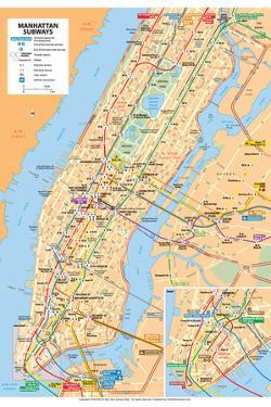 Michelin Official Manhattan Subways Map Poster