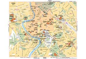 Michelin Official Museums of Rome Map Art Print Poster